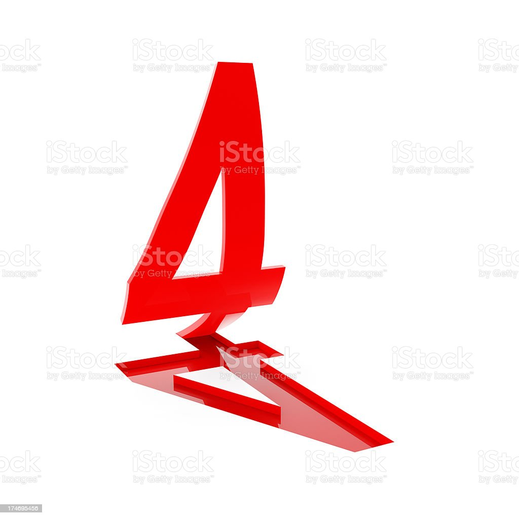 3d number 4 stock photo