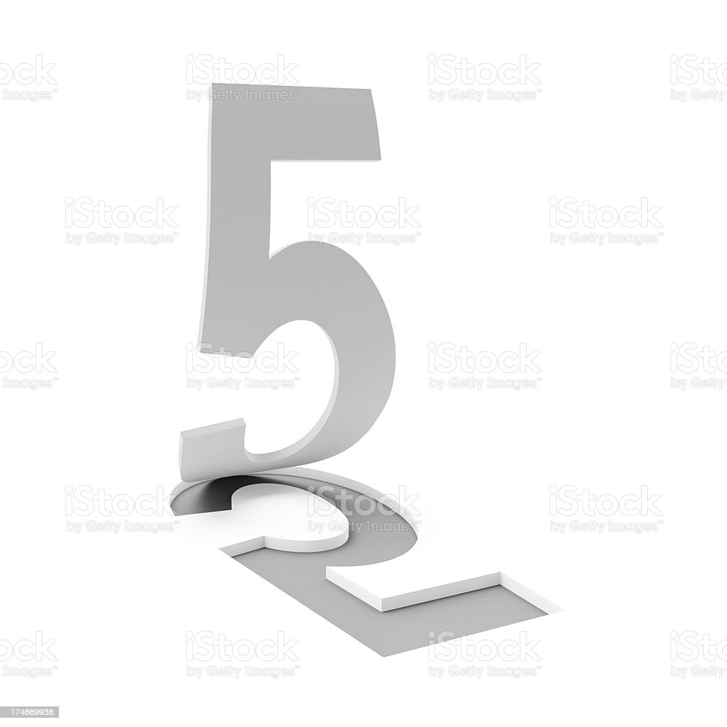 3d number 5 stock photo