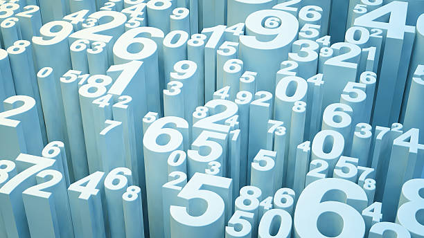 3d numbers stock photo