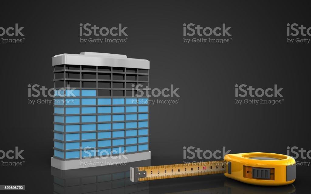 3d of building construction stock photo