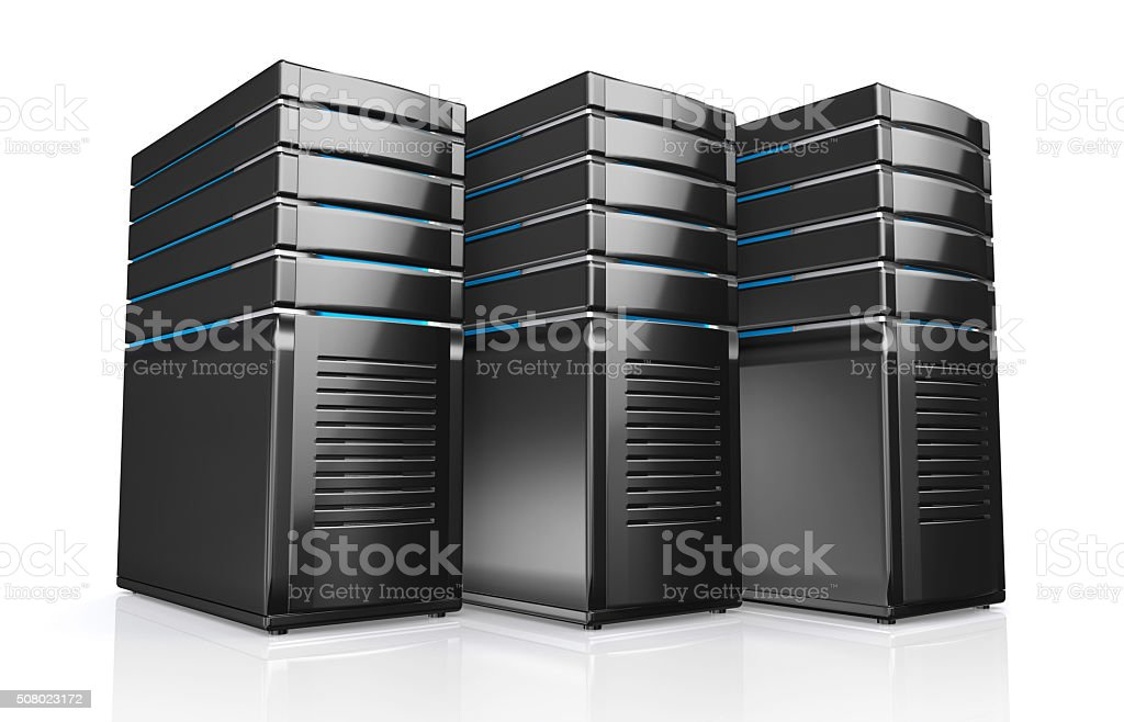 3d of network workstation servers. stock photo
