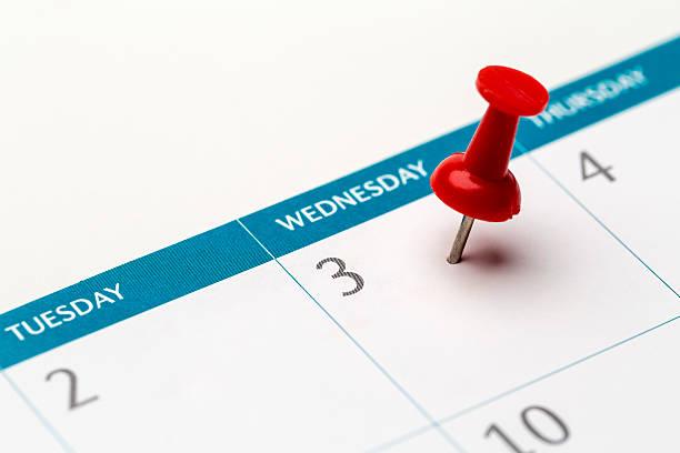 3d of the month marked on calendar - calendrier digital journée photos et images de collection