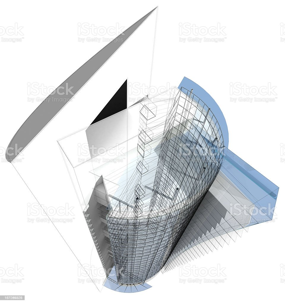 3d office building stock photo