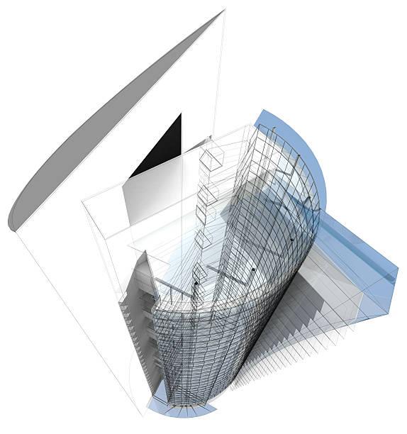 3 d office building – Foto