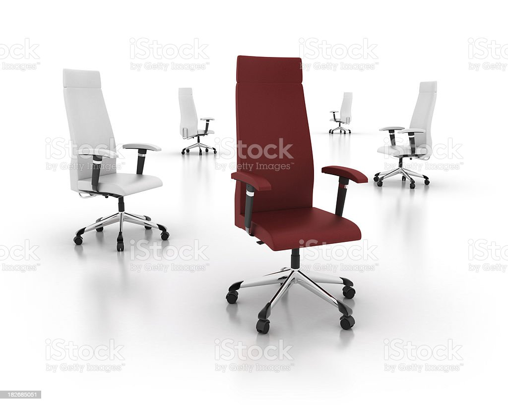 3d Office chair royalty-free stock photo