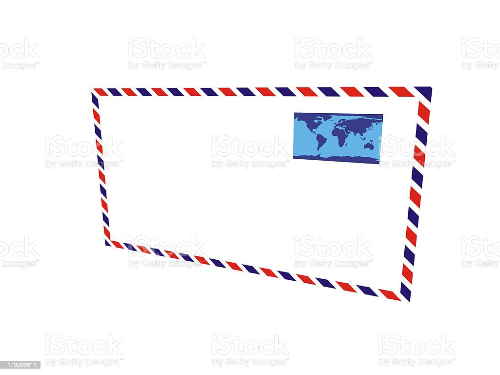 3d Old post envelope royalty-free stock photo