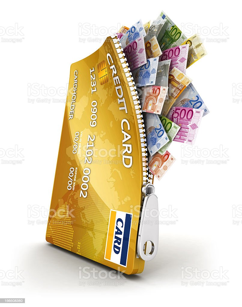 3d open credit card royalty-free stock photo