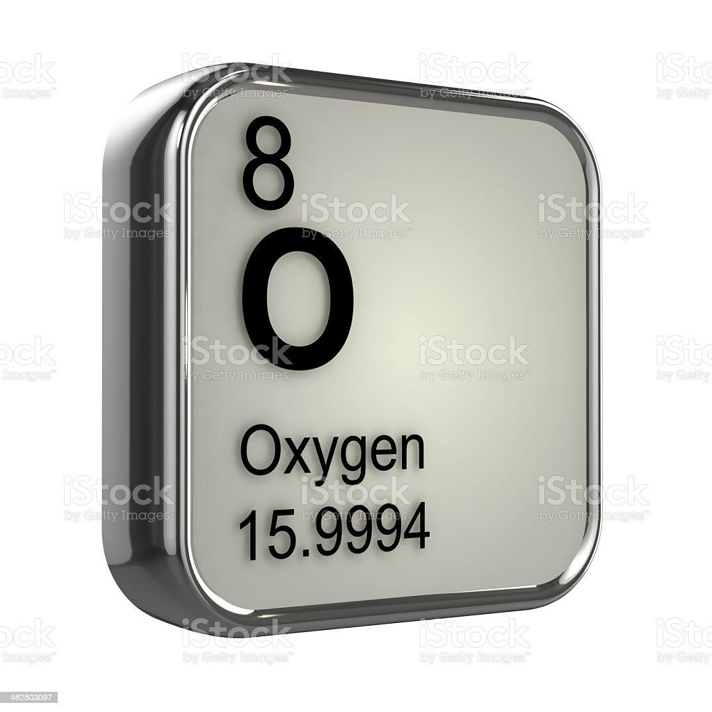 3d Oxygen element stock photo