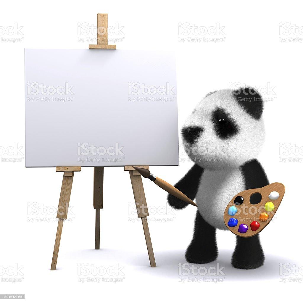 3d Panda bear is an artist stock photo