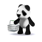 3d Panda Bear Lifting Weights Stock Photo More Pictures Of Animal