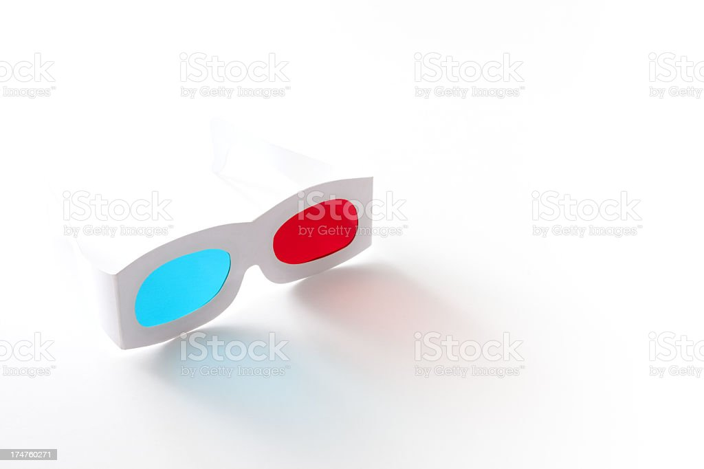 3d paper glasses royalty-free stock photo