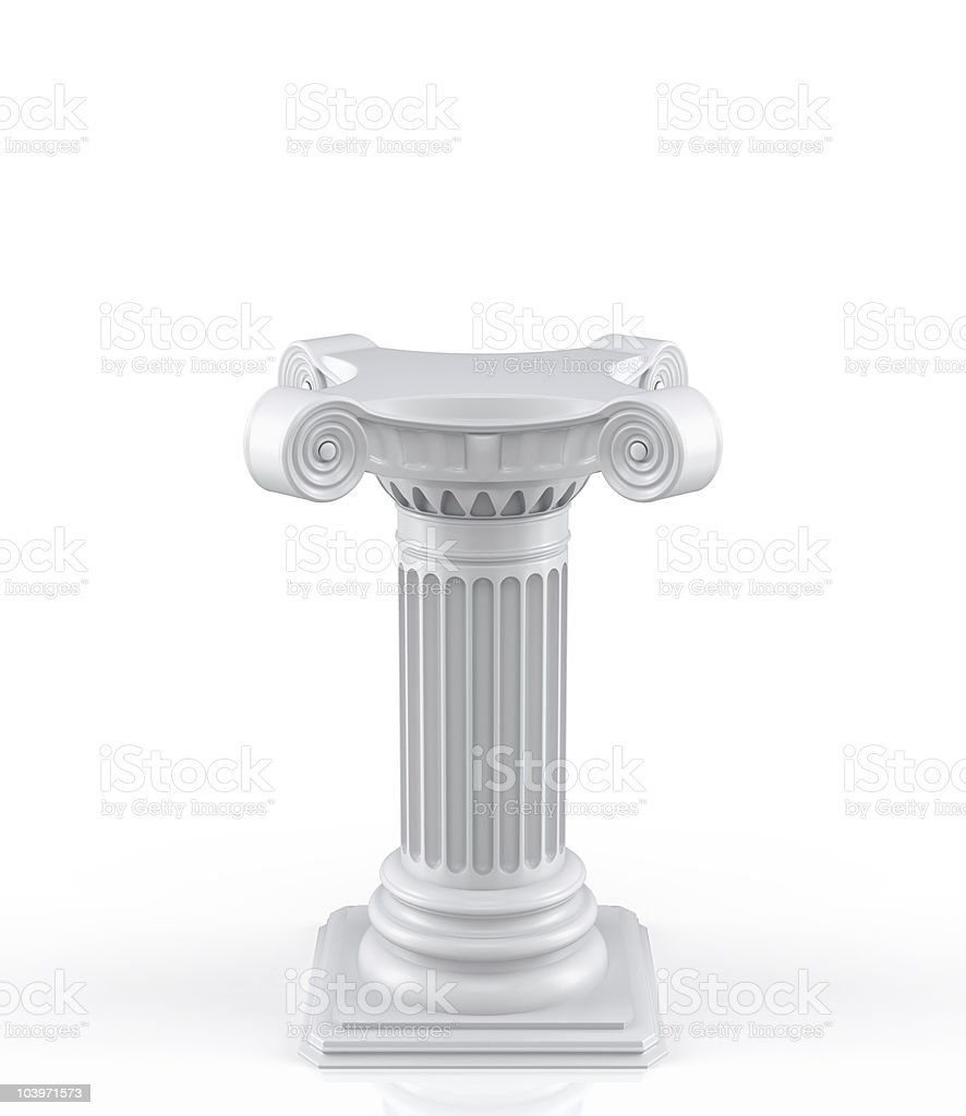 3d pedestal royalty-free stock photo