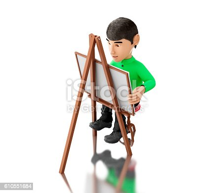 istock 3d people artist with an easel 610551684