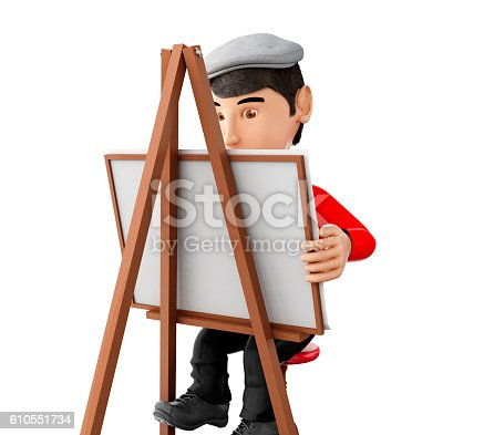 istock 3d people artist with an easel 610551734