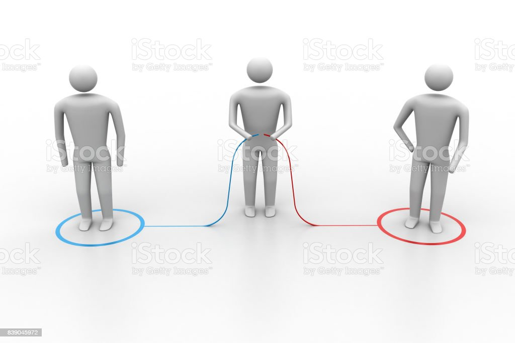 3d people connecting stock photo