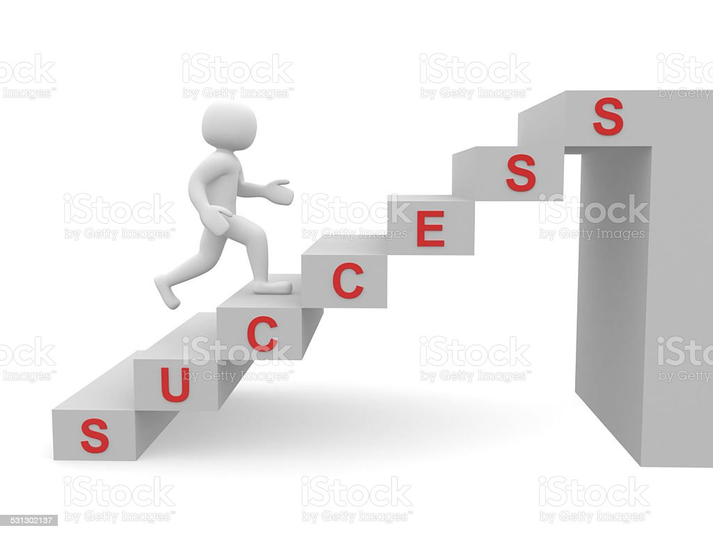 3d People Man Person Climbing Stairs And Word Success Stock Photo ... for Climbing Stairs To Success  588gtk