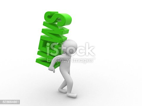 istock 3d people - men, person and word