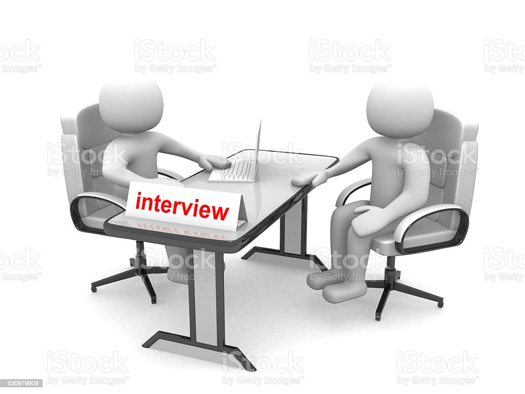 3d people - men, person - application or interview stock photo