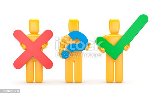 istock 3d people with symbols 163023629