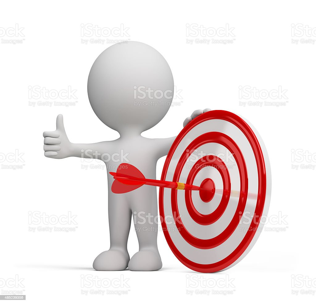 3d person - success target stock photo
