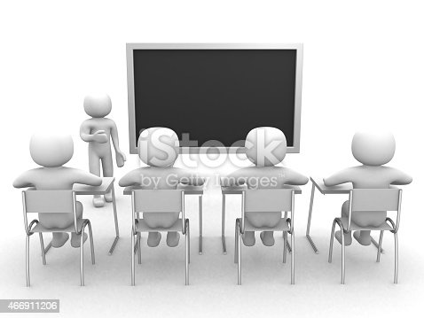 3d person that indicates the blackboard - 3d render illustration