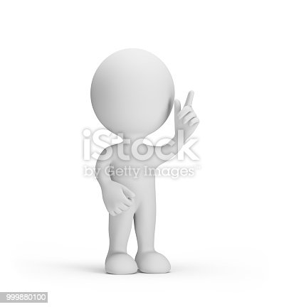 istock 3d person thought about 999880100