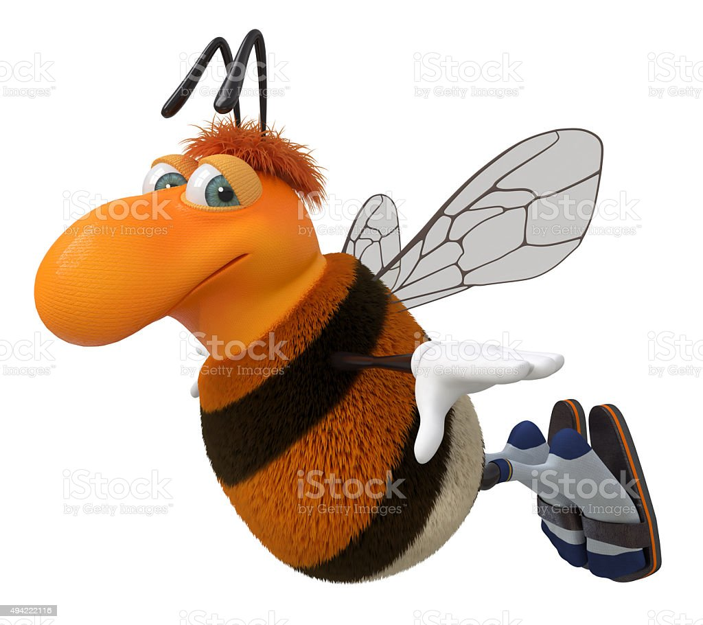 3d picture bumblebee stock photo