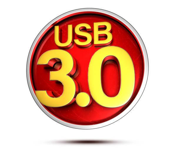 usb 3.0 3d. (mit clipping-pfad). - desktop hintergrund hd stock-fotos und bilder