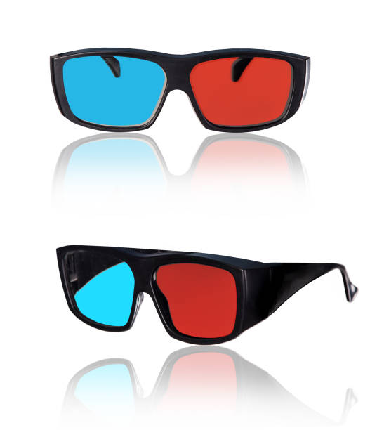 3d plastic glasses isolated on white stock photo