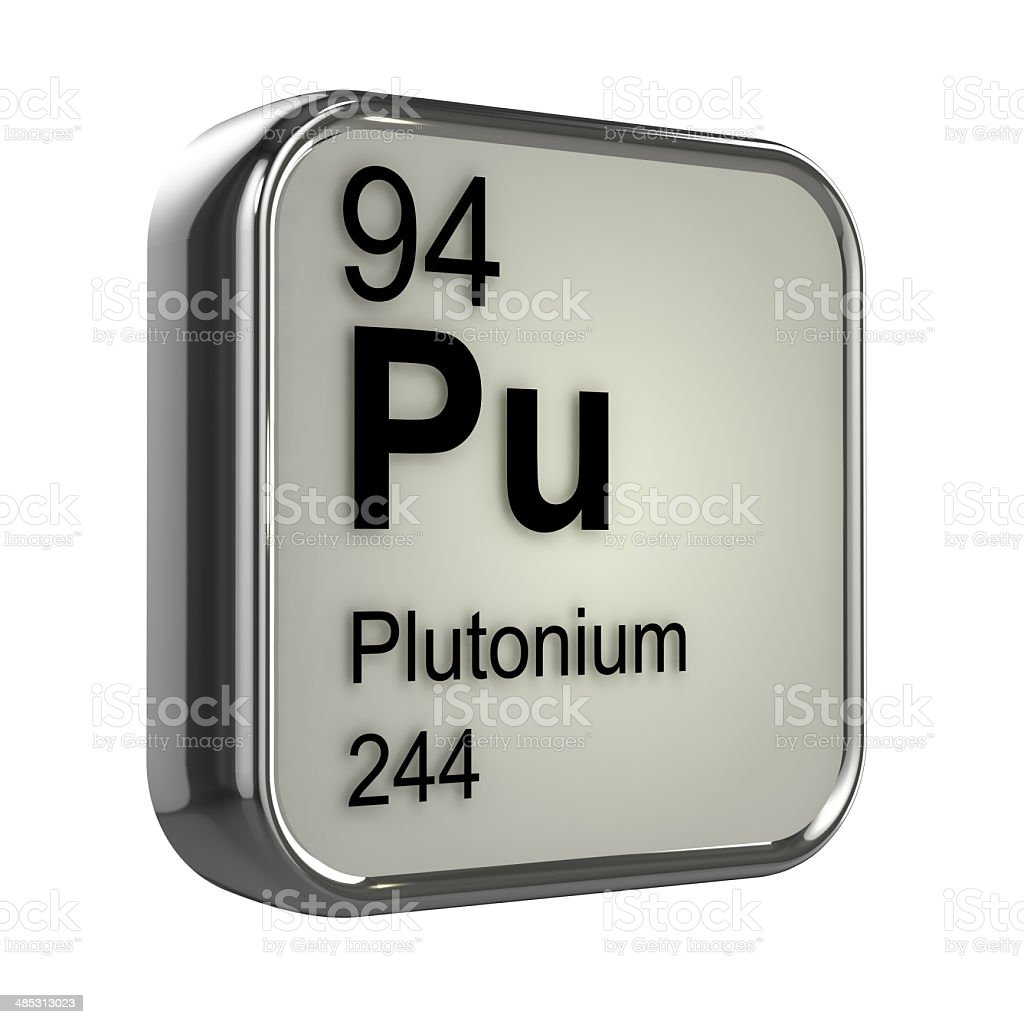 3d Plutonium element stock photo