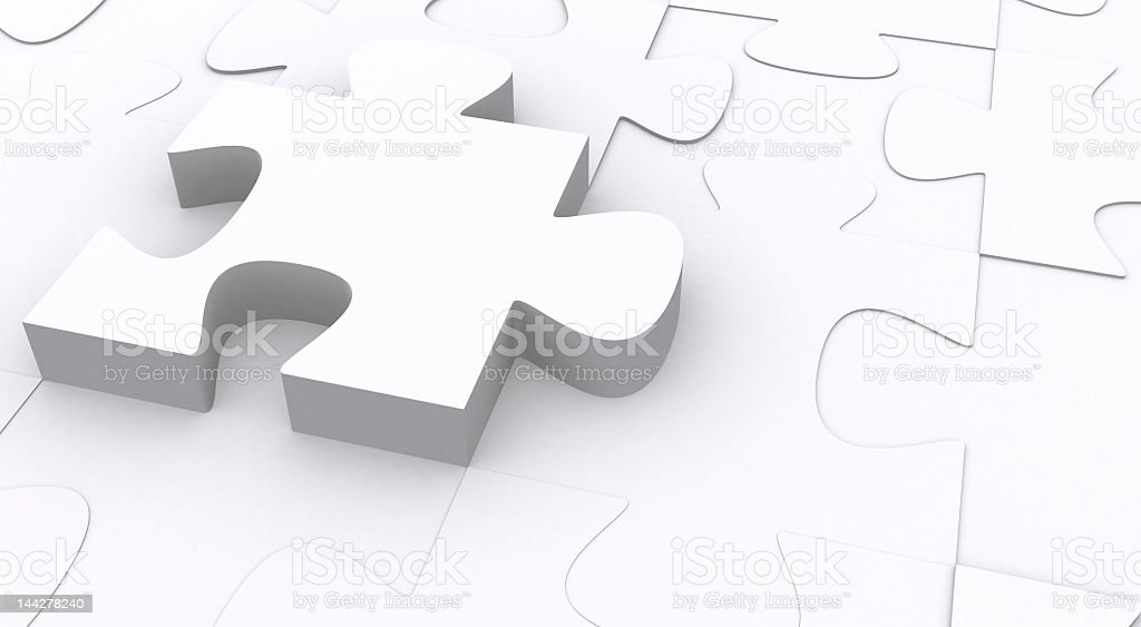 3d puzzle pop royalty-free stock photo