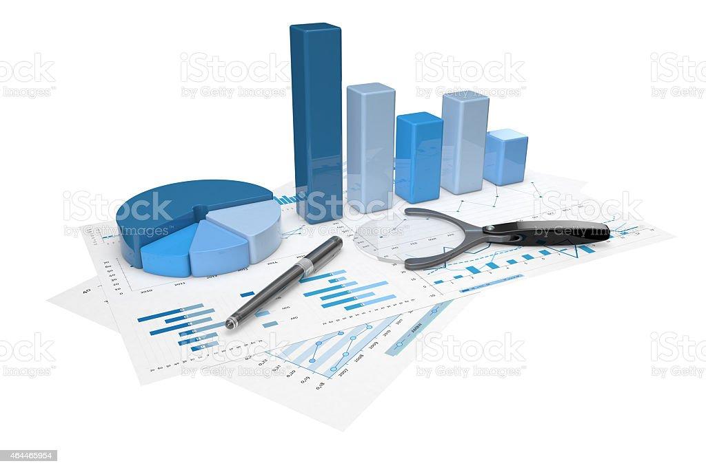 3d positive bar Graphs stock photo