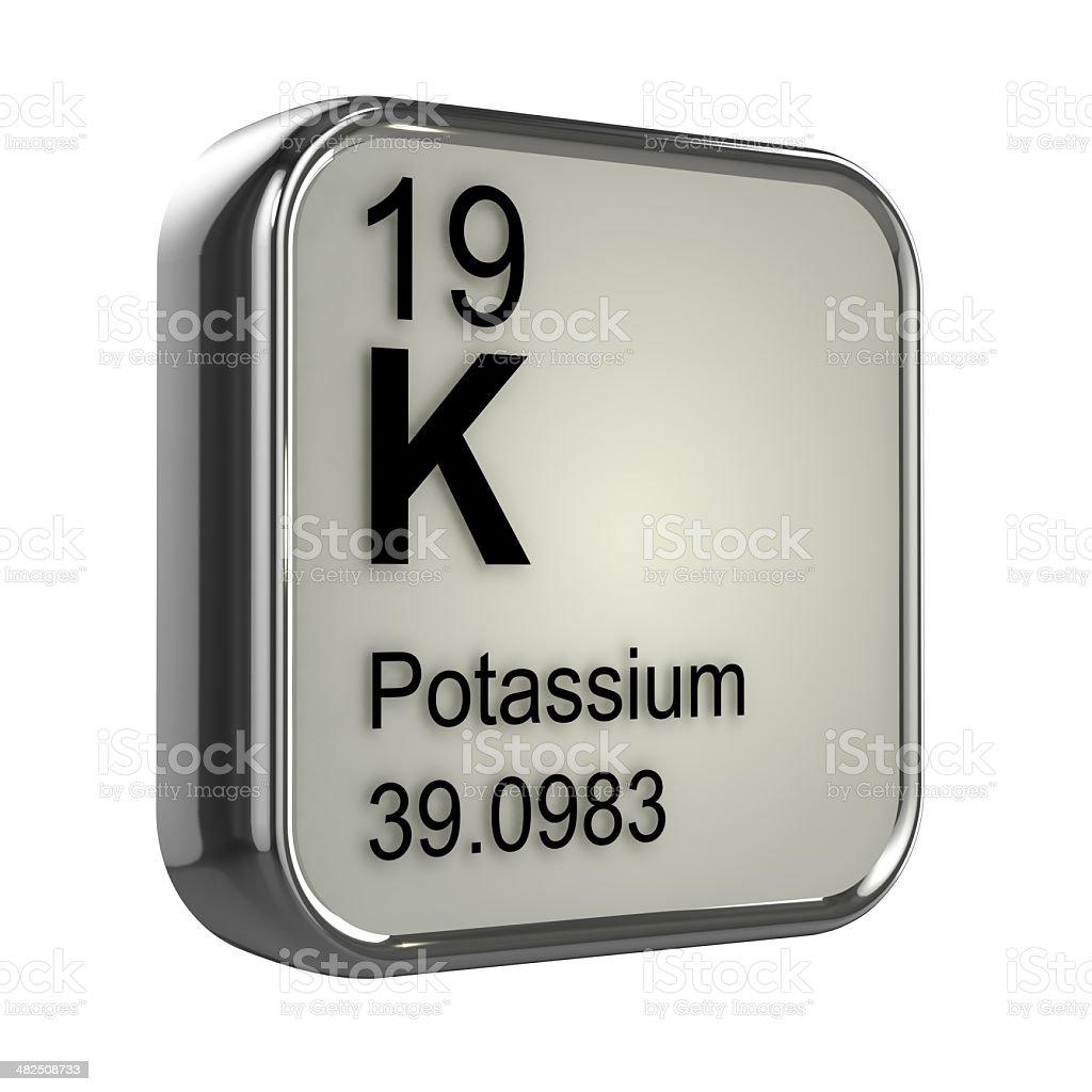 3d Potassium element stock photo