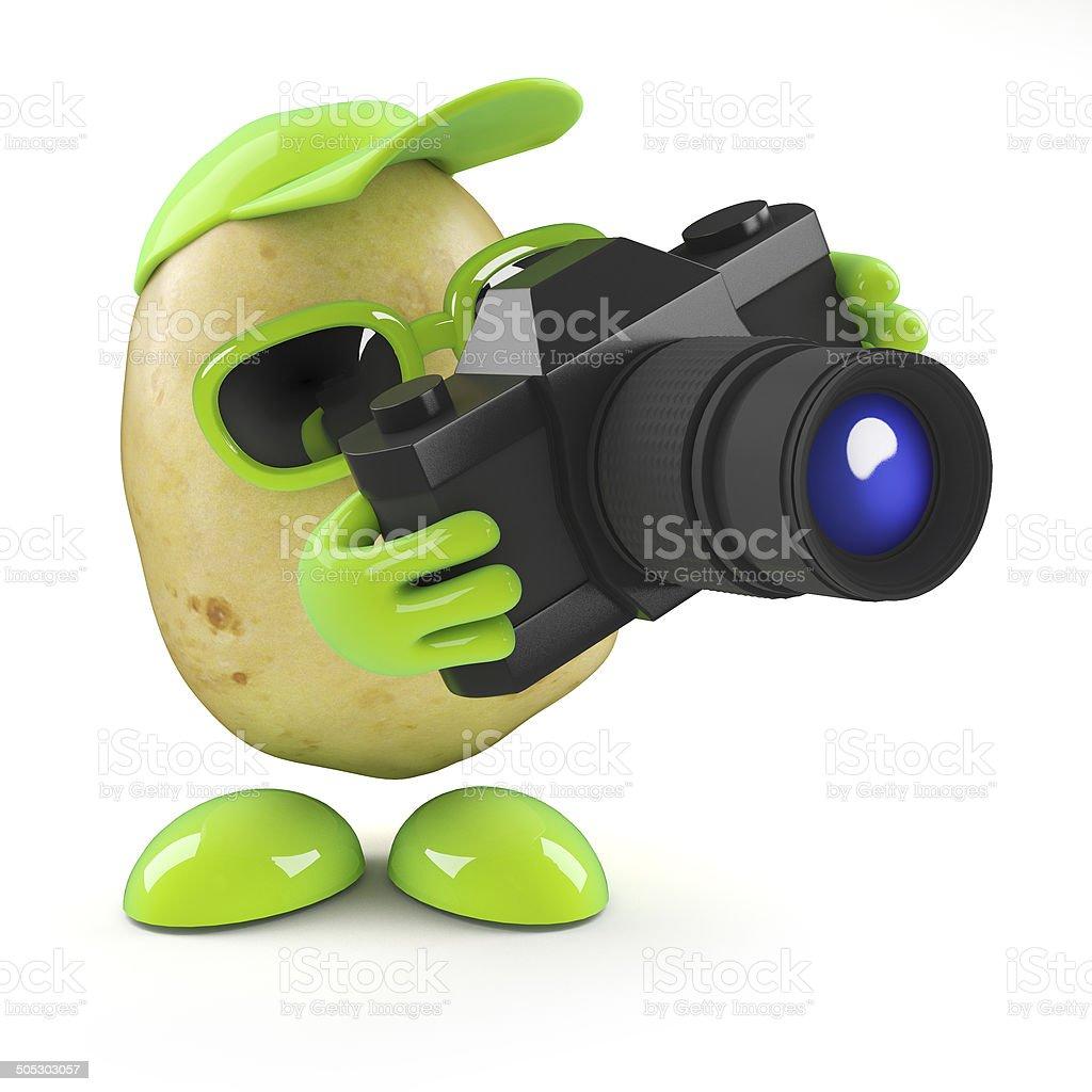 3d Potato photographer stock photo