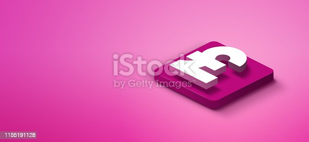 1155191162istockphoto 3d pound symbol on pink abstract background 1155191128