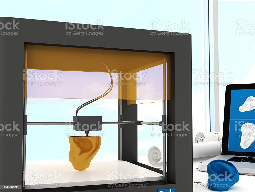 3d printed ear bildbanksfoto