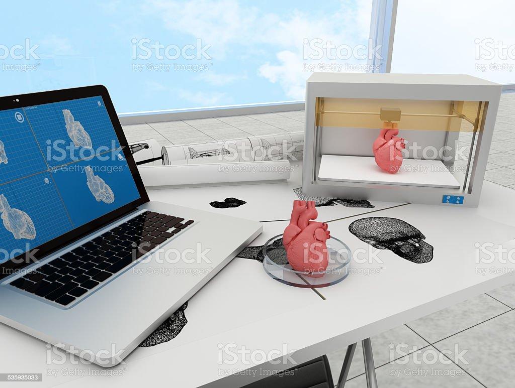 3D imprimée Cœur - Photo