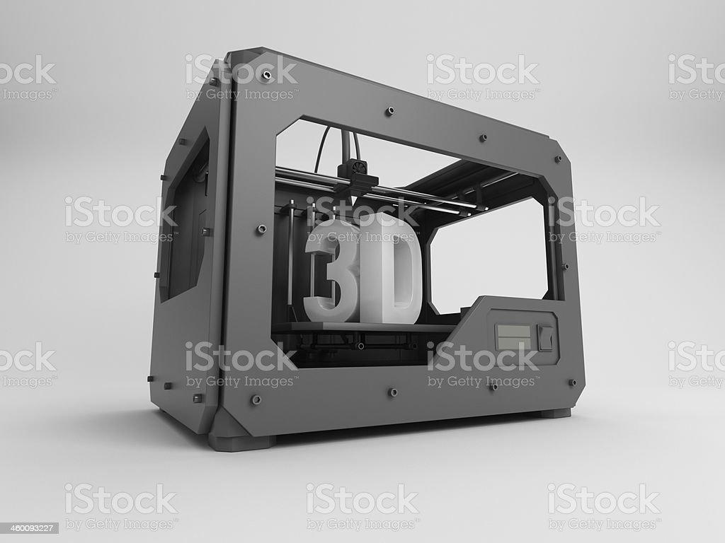 3d printer 01 stock photo