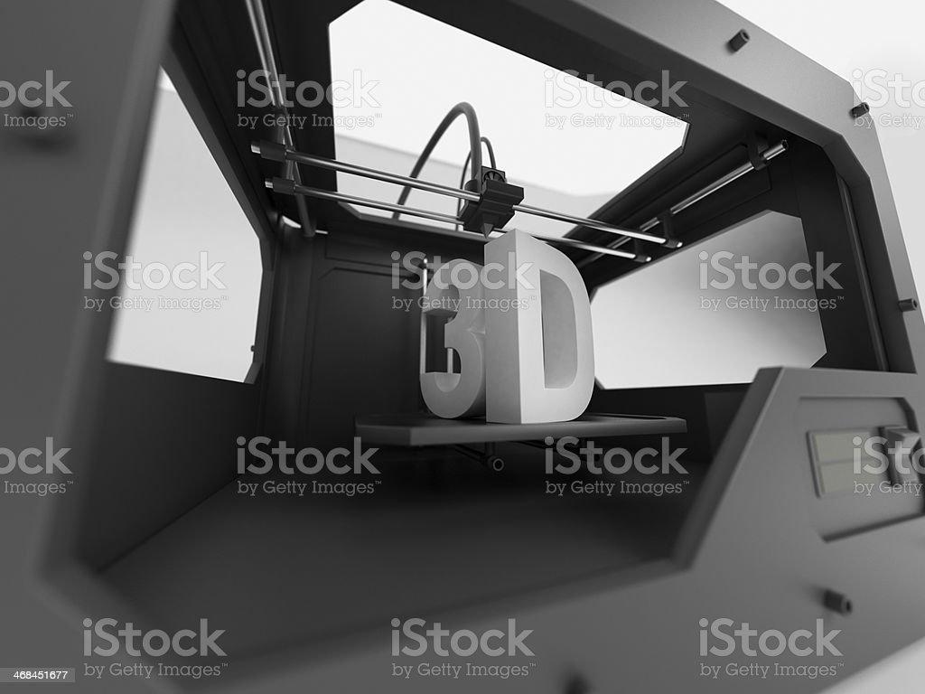 3d printer closeup stock photo