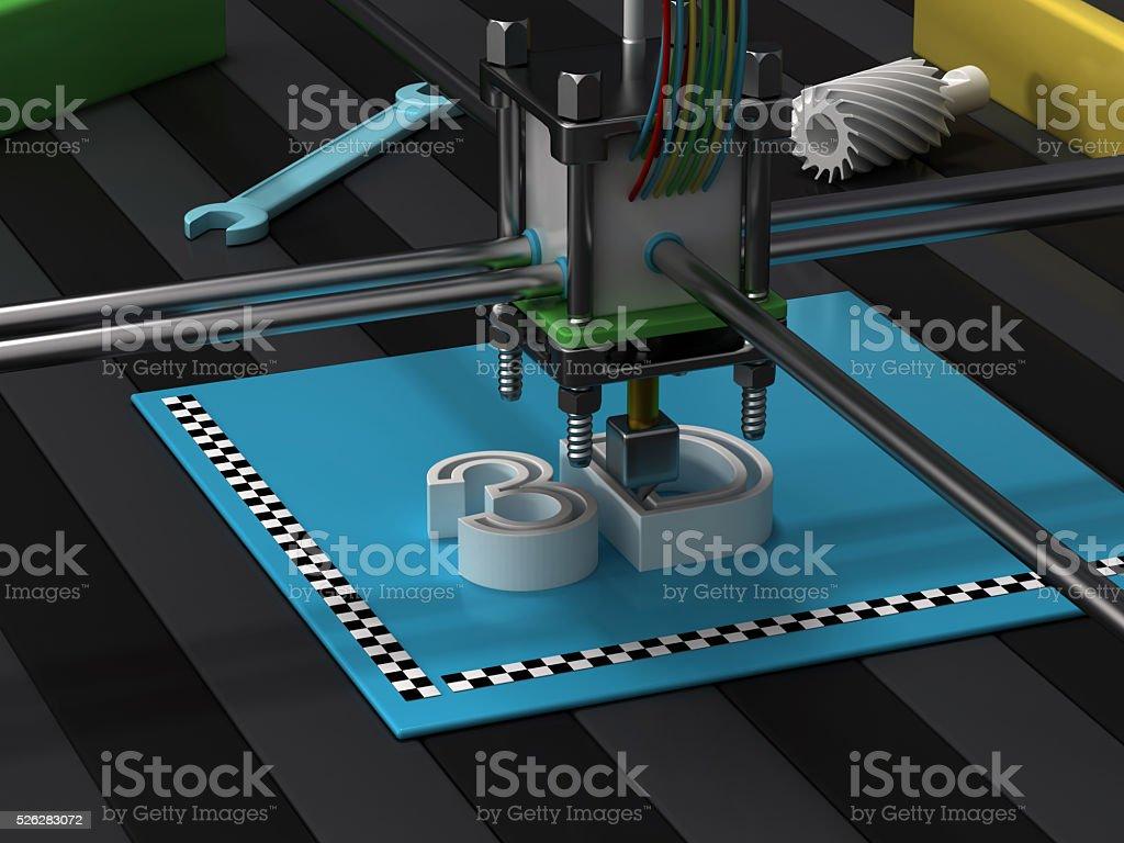 3d printer - Royalty-free 3D Printing Stock Photo