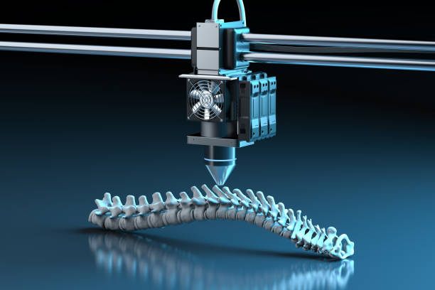 3d printer print prosthetic spine stock photo