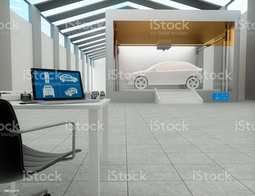 3d printer, Printing car stock photo