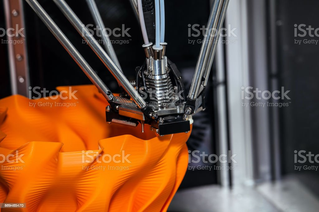 3d printer printing stock photo