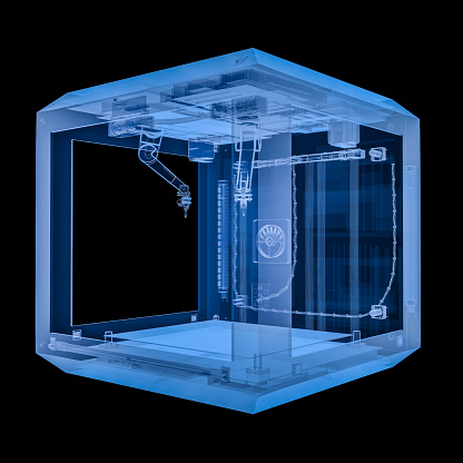 istock 3d printer with injector 905568612