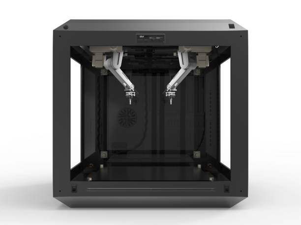 3d printer with injector 3d rendering 3d printer with injector nozzle blotter stock pictures, royalty-free photos & images