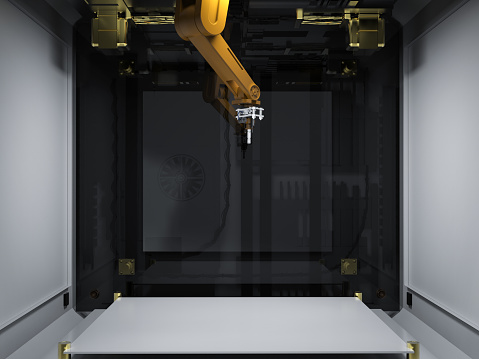 istock 3d printer with injector 905568626