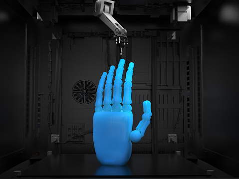 istock 3d printer with object 905568636