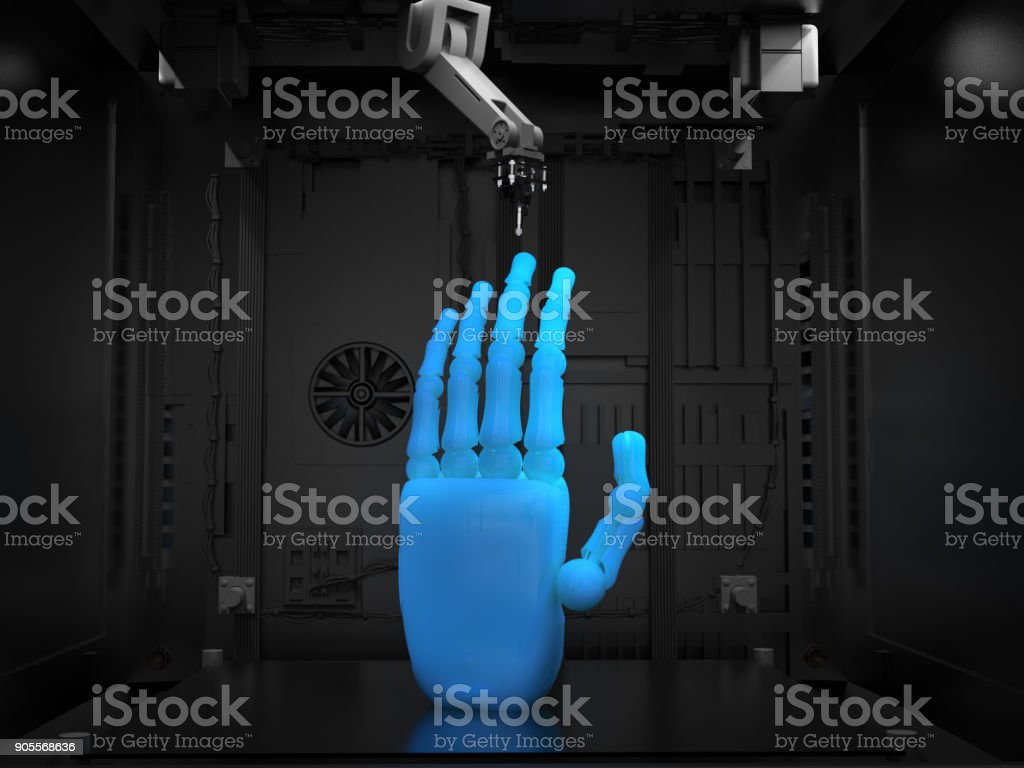 3d printer with object stock photo