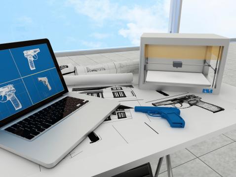 Stampa 3d Technology Pistola - Fotografie stock e altre immagini di Ambientazione interna