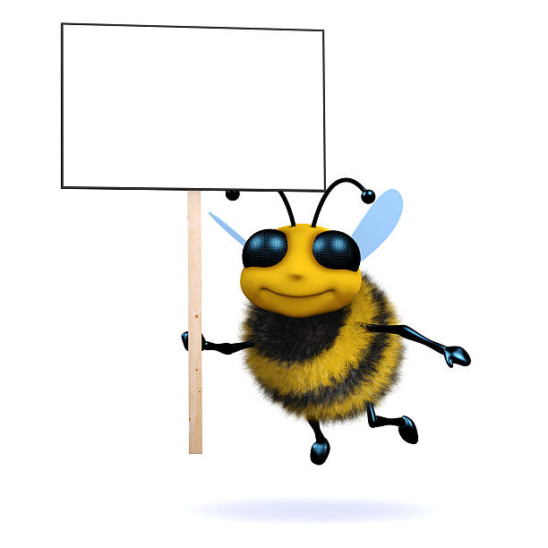 3d Protester bee stock photo